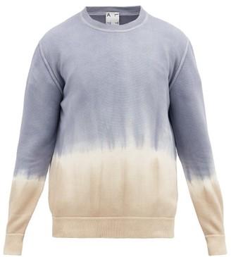 Altea Tie-dye Cotton Sweater - Mens - Blue Beige