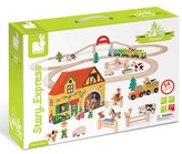 Janod Toddler 'Story Express - Farm' Train Set