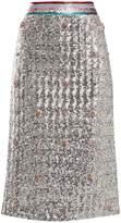 Mary Katrantzou Sigma crystal-embellished sequin midi skirt