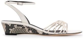 Giuseppe Zanotti Snakeskin Wedge Heel Sandals