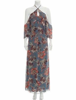 Intermix Silk Long Dress w/ Tags Blue