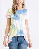 BEIGE Cool Melon Women's Tee Shirts  & Denim Blue Tie-Dye Tee - Women