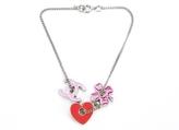 Chanel Pink CC Clover Silver Bracelet