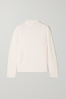 Vince Ribbed Wool And Cashmere-blend Sweater - Off-white