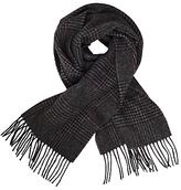 John Lewis Dogtooth Check Wool Scarf, Grey