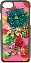 Dolce & Gabbana tropical fruit embellished iPhone 6 case - women - Leather/glass - One Size