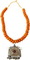 One Kings Lane Vintage African Amber Currency Beads Necklace