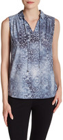 T Tahari Seneca Printed Sleeveless Blouse