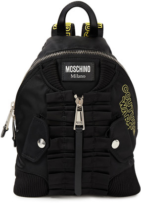 Moschino Ruffled Printed Shell Backpack