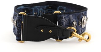 Christian Dior Shoulder Strap Embellished Oblique Canvas
