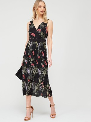 Ted Baker Malinae Highland Sleeveless Midi Dress - Black