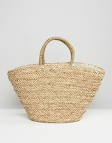 Hat Attack Seagrass Tassel Tote Bag