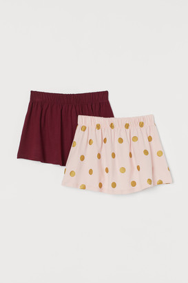 H&M 2-pack Cotton Jersey Skirts