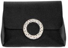 Nina Livia Circle Embellished Satin Clutch
