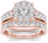 MODERN BRIDE 1 1/2 CT. T.W. Diamond 10K Rose Gold Bridal Set