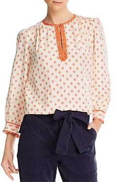 Rebecca Taylor Silk Printed Blouse