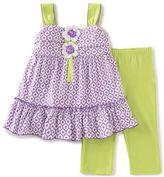 Kids Headquarters Girls 2-6x Two-Piece Dress and Leggings Set