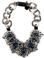 Prada Crystal Collar Necklace
