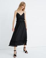 Madewell Petite Shimmer Ruffle Cami Dress