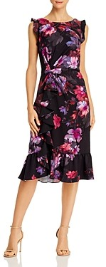 Adrianna Papell Watercolor Lillies Dress