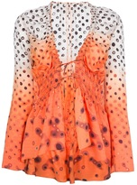 Jean Paul Gaultier Vintage printed gypsy blouse