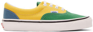 Vans Green and Yellow Anaheim Factory Era 95 DX Sneakers