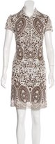 Naeem Khan Eyelet Shift Dress