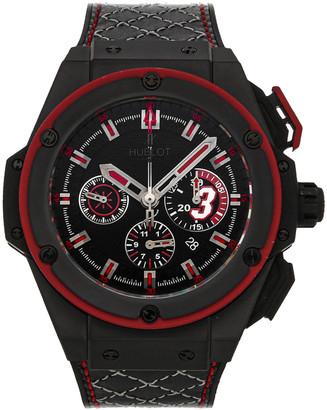Hublot Black Ceramic King Power Dwayne Wade Limited Edition 703.CI.1123.VR. DWD11 Men's Wristwatch 48 MM