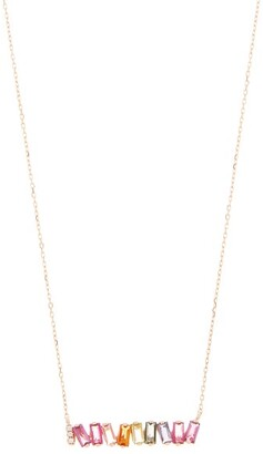 Suzanne Kalan Rainbow Diamond, Topaz & 14kt Rose-gold Necklace - Rose Gold