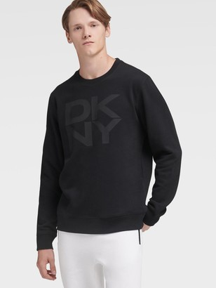 DKNY Stacked Logo Fleece Pullover