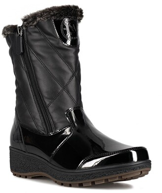 Aquatherm By Santana Canada Tasha Faux Fur Lined Quilted Winter Boot