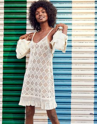 aerie Crochet Tank Dress