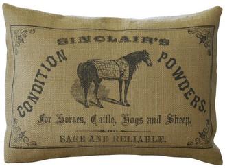 "Polkadot Apple Pillows Horse Powder Burlap Pillow, 12""x16"""