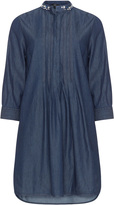Vento Maro Plus Size Embellished cotton denim long tunic