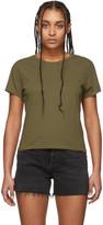 A Gold E Agolde AGOLDE Khaki Linda Boxy T-Shirt
