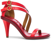 Chloé Leather Niko Sandals in Red.
