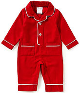 Mud Pie Baby Boys Newborn-9 Months Christmas Flannel Pajama Coverall