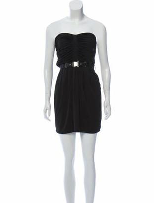 Gucci Strapless Belted Dress Black