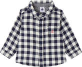 Petit Bateau Baby boy's gingham cotton shirt