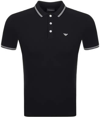Giorgio Armani Emporio Short Sleeved Polo T Shirt Black