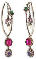 Alexander McQueen Creole Crystal Hoop Earrings/2.5