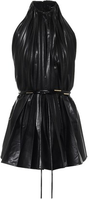 Ellery Philodemus faux-leather top