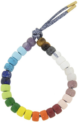 Carolina Bucci FORTE Beads Rainbow Gunmetal Bracelet Kit - Yellow Gold