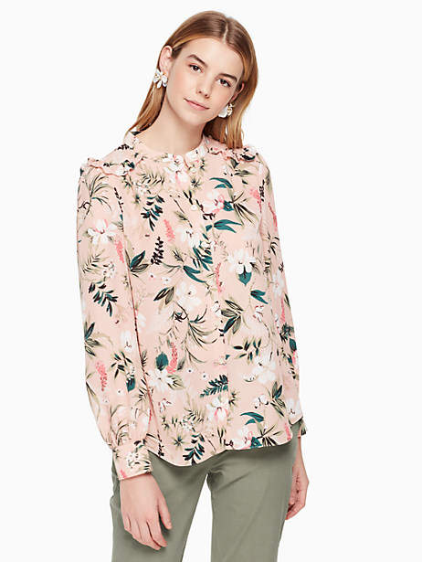 Kate Spade Botanical long sleeve top