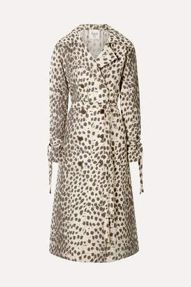 Sea Leopard-print Cotton-canvas Trench Coat - Leopard print