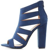 Charlotte Russe Faux Suede Caged Dress Sandals