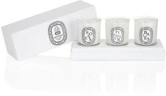 Diptyque Mini Candle Set Baies, Figuier, & Roses