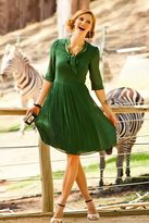 Shabby Apple Animalia Dress Green