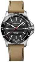 Wenger Seaforce Men's Light Brown Leather Strap Watch