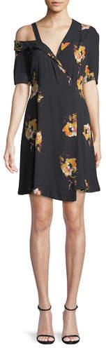 A.L.C. Lucia Off-the-Shoulder Floral Silk Mini Dress